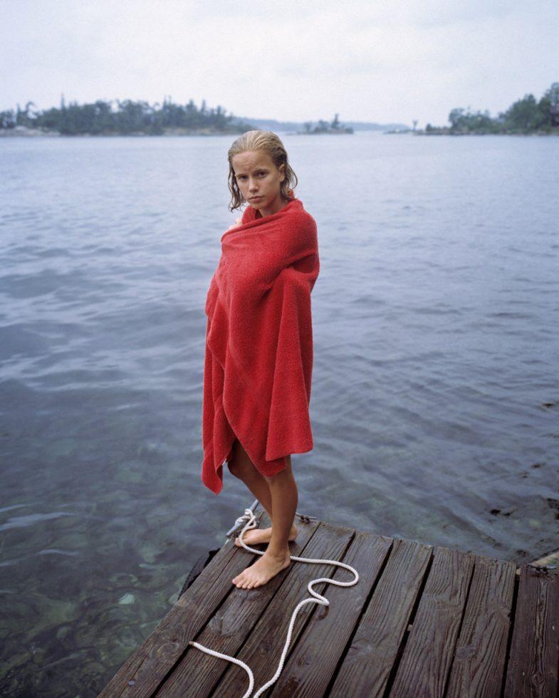 Katie in Red Towel