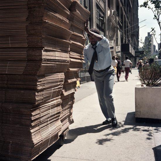 Janet Delaney, Man Pushing Boxes