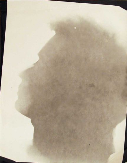Mark Morrisroe, Self portrait in silhouette