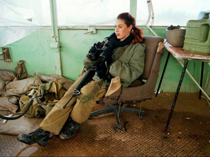 Rachel Papo. Lookout duty, Tsaelim, Israel