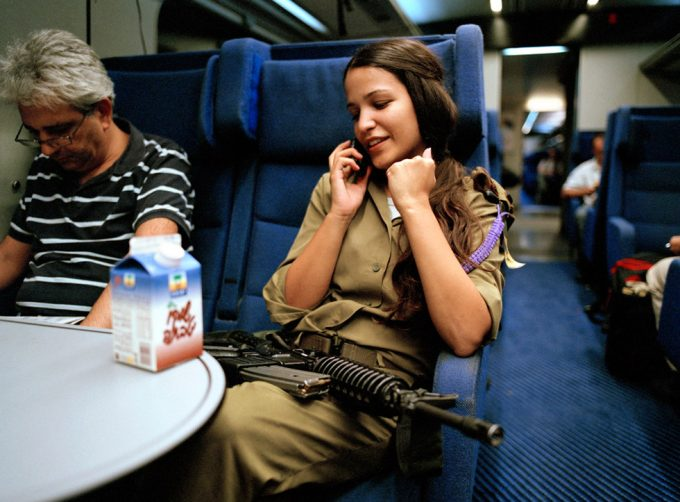 Rachel Papo, On the train going home, Tel Aviv, Israel