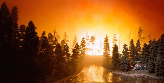 Lori Nix, California Forest Fire