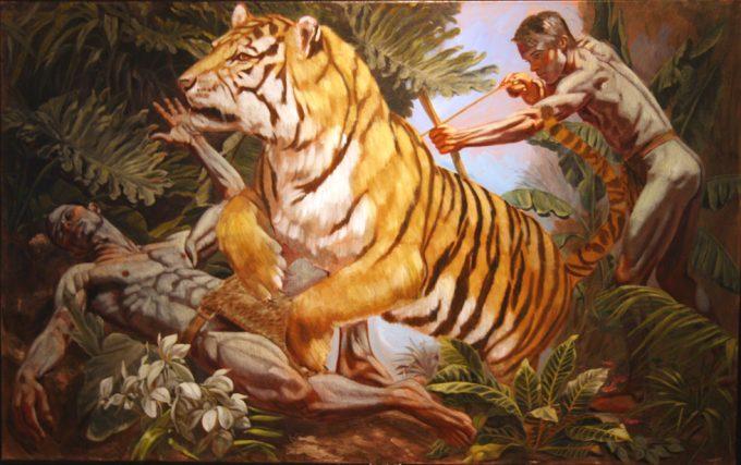 Mark Beard, Hippolyte-Alexandre Michallon, La Mort du Chasseur de Tigre