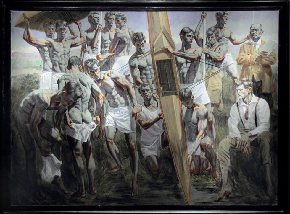 """Rowing Team"" by Mark Beard now in the permanent collection of the New Britain Museum"