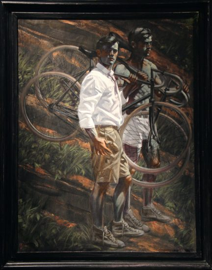 Mark Beard, Bruce Sargeant, Two Men with Bicycles