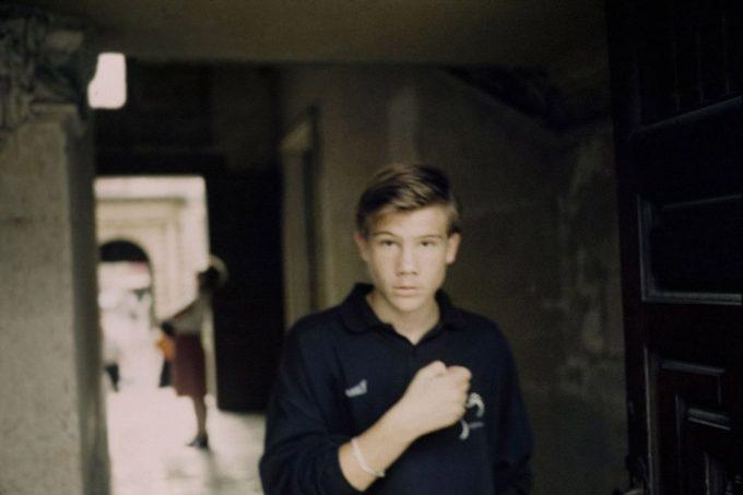 Boy in Doorway, Paris