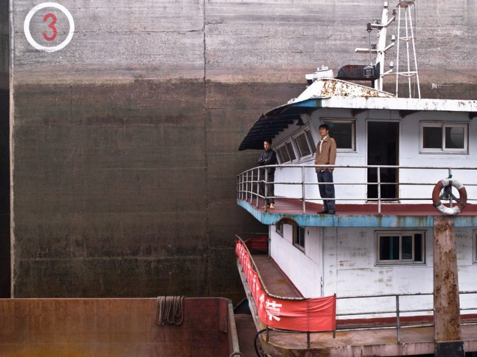 Stephen Wilkes, Three Gorges Dam, Ship in Lock, Yangtze River in Sandouping, Yichang, Hubei, China