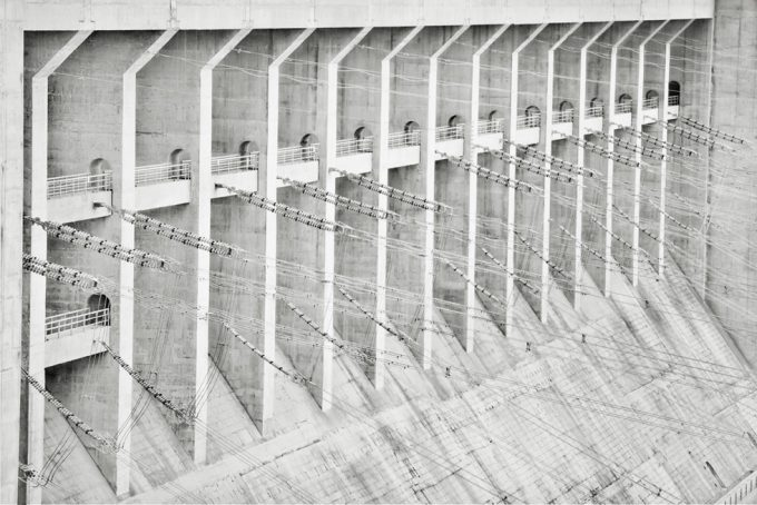 Stephen Wilkes, Steel Cables, Three Gorges Dam, Yangtze River in Sandouping, Yichang, Hubei, China