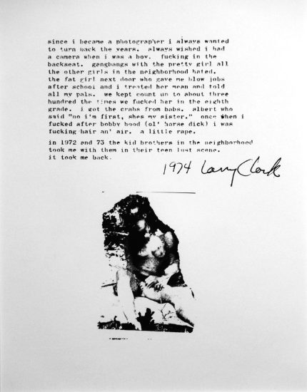 Larry Clark, Little Rape, Teenage Lust