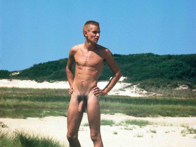 David Jarrett, Mark Morrisroe in Provincetown Dunes 01