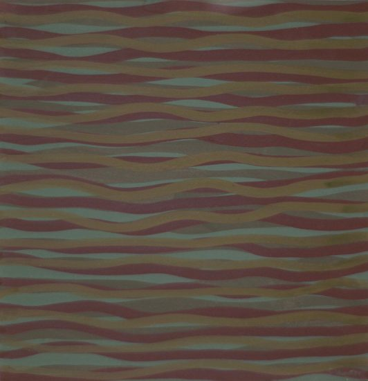 Sol LeWitt, Untitled Horizontal Brushstrokes