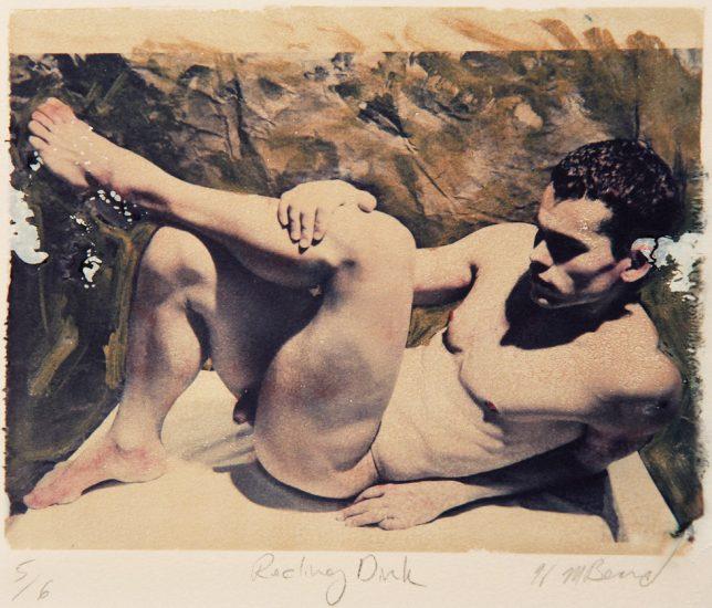 Mark Beard, Reclining Dirck, Polaroid Transfer