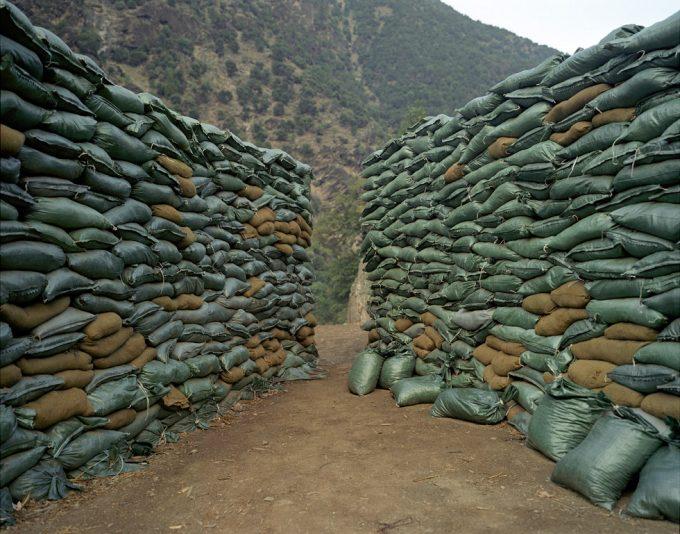 Chad Hunt, Sandbags, Forward Operating Base, Kamdesh, Afghanistan
