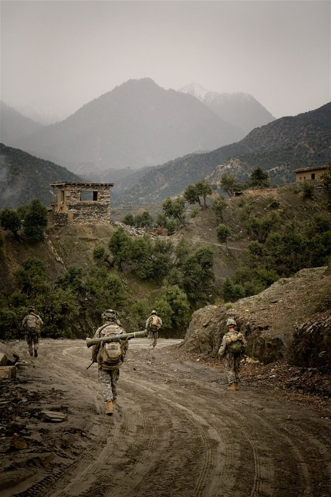 Hour 11 of a 20-hour foot patrol through the Korengal Valley