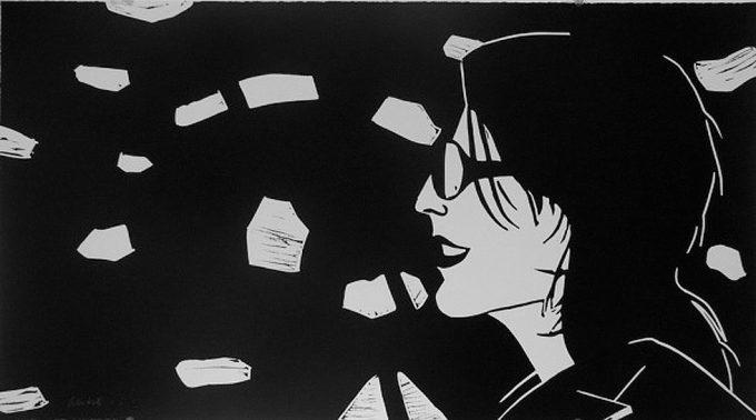 Alex Katz, Sharon, Linocut, Print
