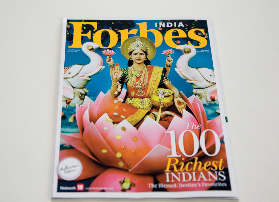 Photograph by Manjari Sharma on the cover of Forbes India