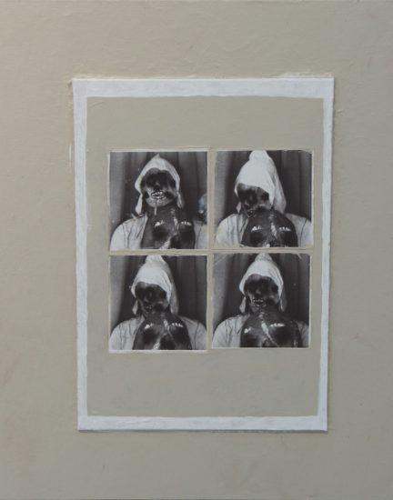 Scott Daniel Ellison, Self Portrait with Skull Mask