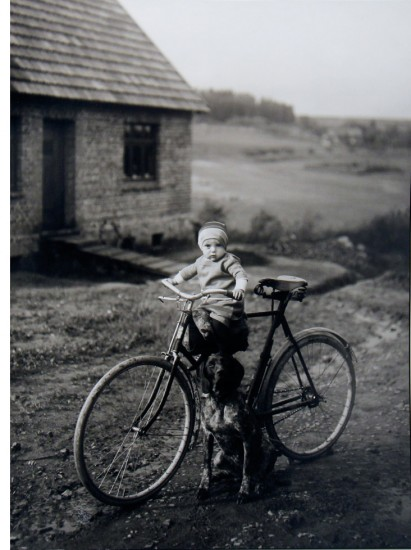 August Sander, Farm Child on Bicycle