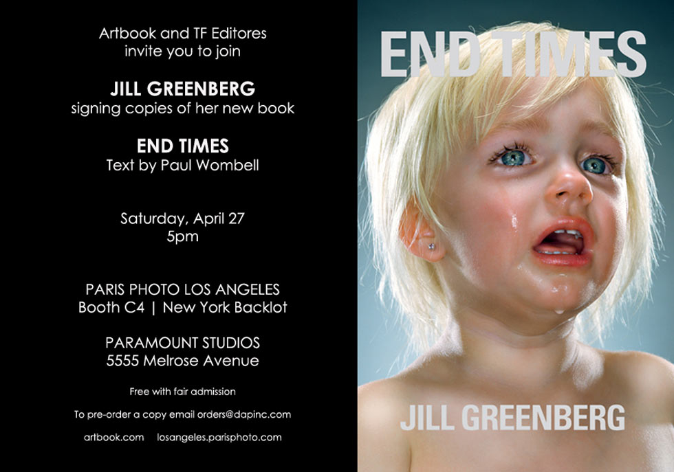 """Jill Greenberg signs copies of her book """"End Times"""" at Paris Photo LA"""