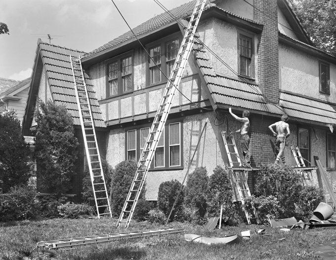 Christine Osinski, Two Men Repairing a West Brighton House