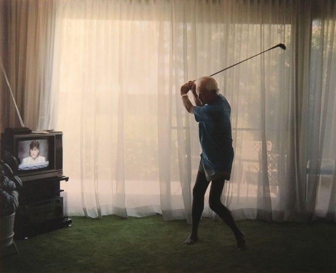 Larry Sultan, Practicing Golf Swing_1988