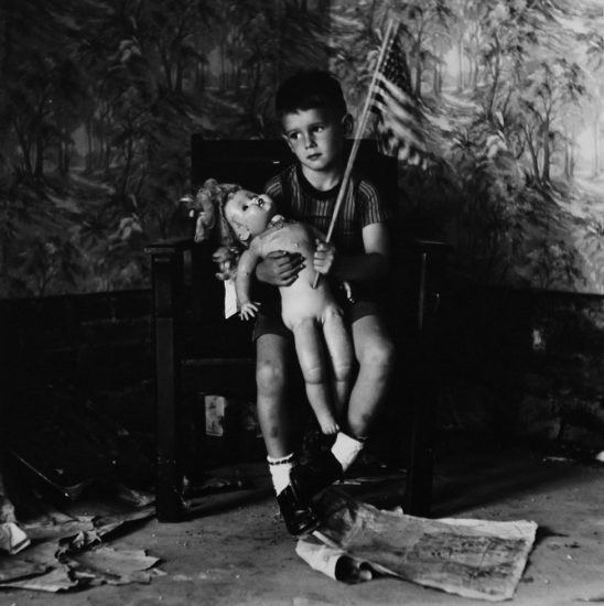 Ralph Eugene Meatyard, Untitled (boy with flag)