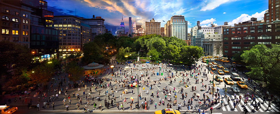 "New ""Day to Night"" image by Stephen Wilkes of Union Square in New York City"