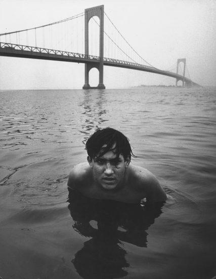 Arthur Tress, Boy in Water Under Bridge