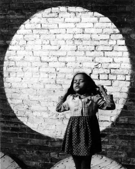 Arthur Tress, Girl and Painted Moon