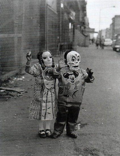 Arthur Tress, Masked Children, 110th Street
