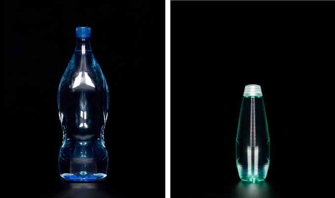 Water bottle portraits by Frank Yamrus, and a bottled water ban in San Francisco
