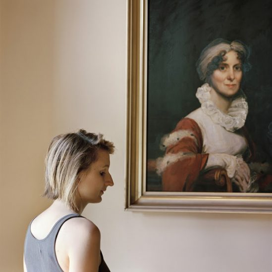 Frances Denny, Edith, with a portrait of her ancestor