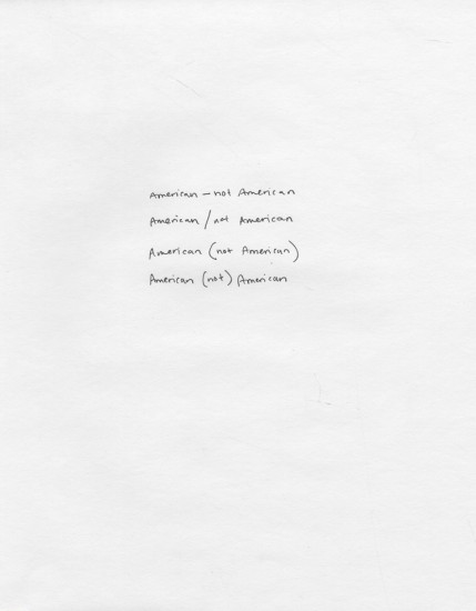Maya Krinsky, Diagram, Punctuation