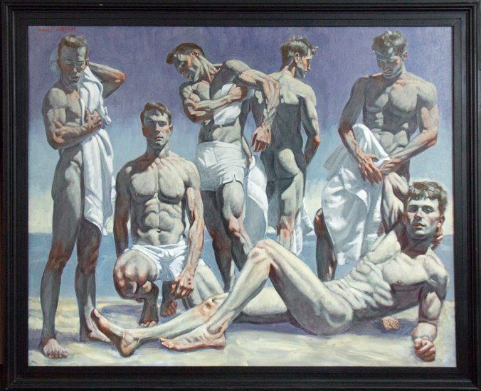 Mark Beard, Bruce Sargeant, Group of Men on the Beach