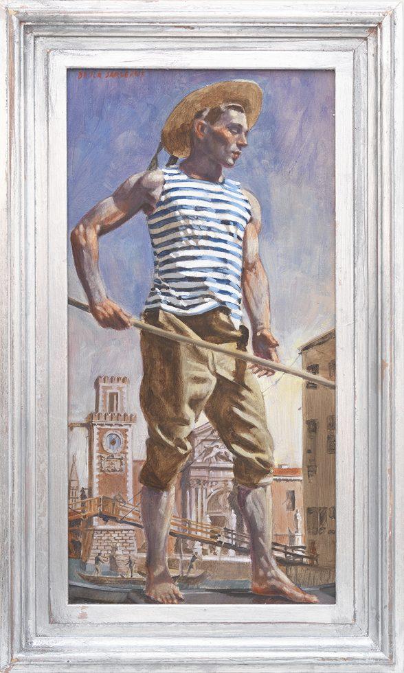 [Bruce Sargeant (1898-1938)] Standing Gondolier
