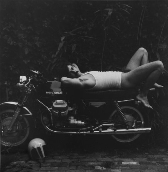 Man on Motorcycle, Robert Giard