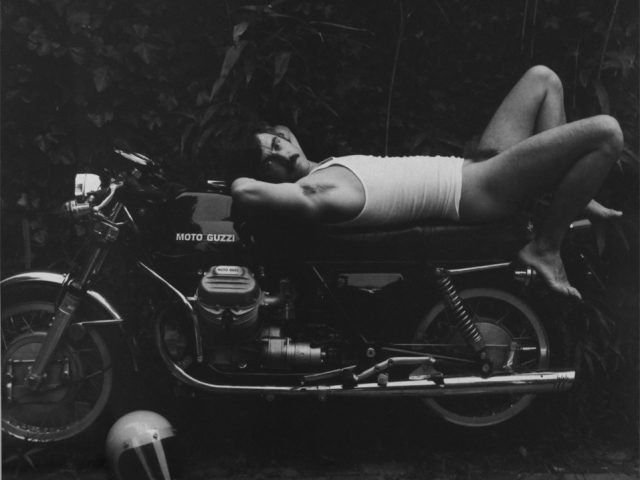 Man on Motorcycle, Robert Giard