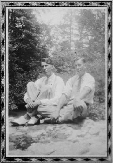 Mike Disfarmer, Untitled (Two men seated)