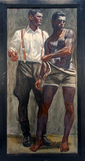 Two Men, One Shirtless
