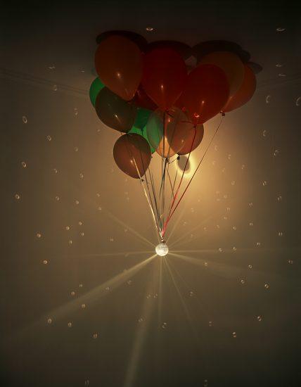 Balloon and disco ball