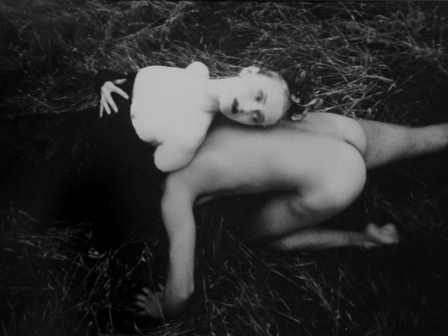 David LaChapelle, Nude Maln and Woman in the Grass