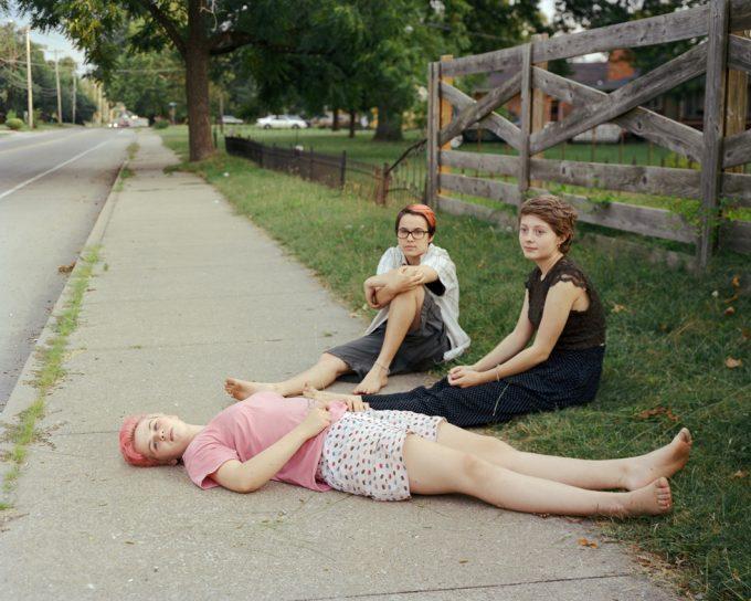 Elise Kirk, Sidewalk, Road Watching