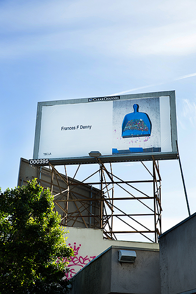 Frances F. Denny's work featured on billboard in LA
