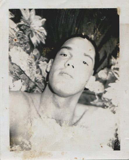Mark Morrisroe, Untitled Portrait of a Man in Front of Floral Fabric
