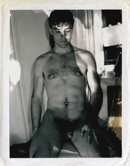 Mark Morrisroe, Seated Nude Man, Polaroid