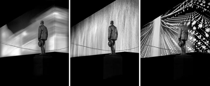 Michael Massaia, Cohan Variations Times Square Triptych