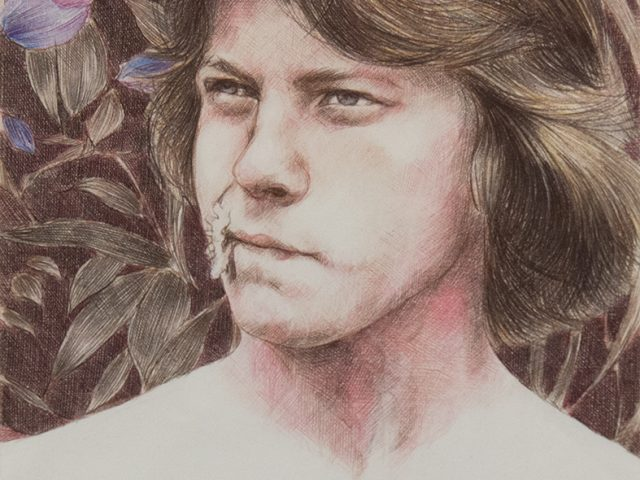 Paul P, Untitled colored pencil drawing, Artist, young men