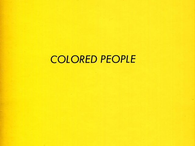 Ed Ruscha, Colored People