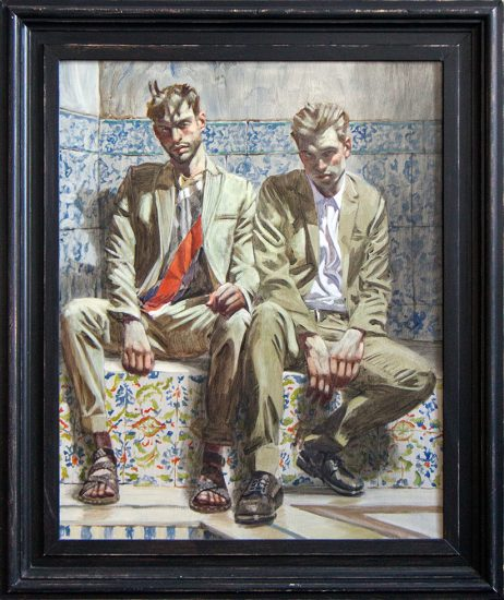 Mark Beard, Bruce Sargeant, Two Men on Painted Tiles