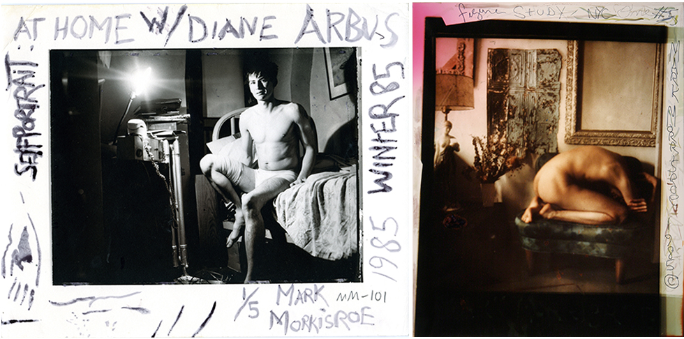 Two Mark Morrisroe photographs now in the collection of the Wadsworth Atheneum